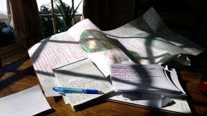 Notizen auf dem Schreibtisch