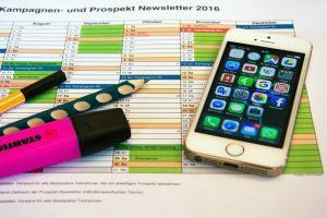 Plan und Smartphone